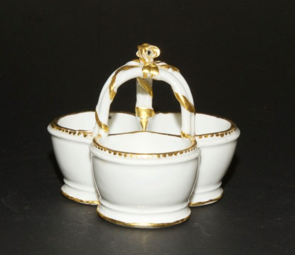 SEVRES - Three compartment salt cellar, ca. 1770